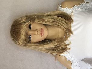 Blonde with Golden Blonde Highlights Wig