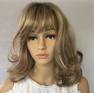 Dish Water Blond with Red and Brown Highlights Wig
